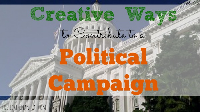 9 creative ways to contribute to a political campaign