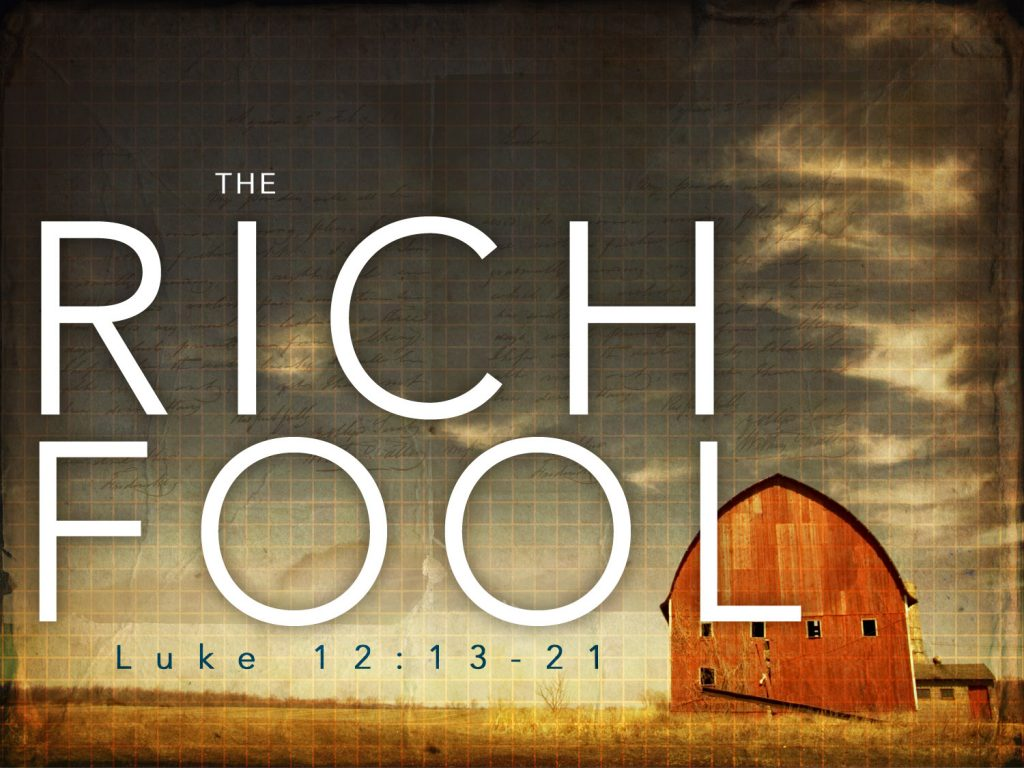 the parable of the rich fool
