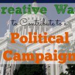 political campaign, contributing to a campaign