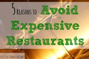 tips on eating out, avoiding expensive restaurants, expensive restaurant