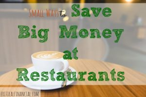 save money on restaurants, eating out, save money while eating out