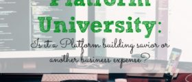 Platform University, business ventures, business expenses