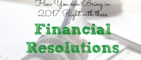 financial resolution tips, financial resolution advice, accomplishing financial resolutions