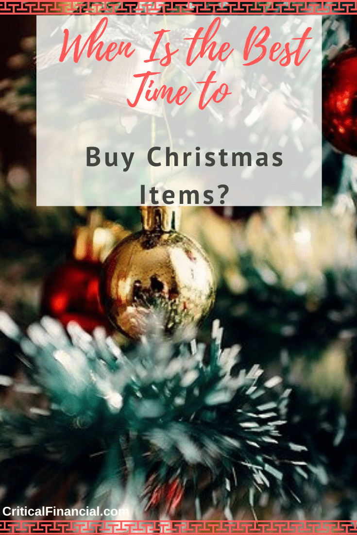 When Is the Best Time to Buy Christmas Items