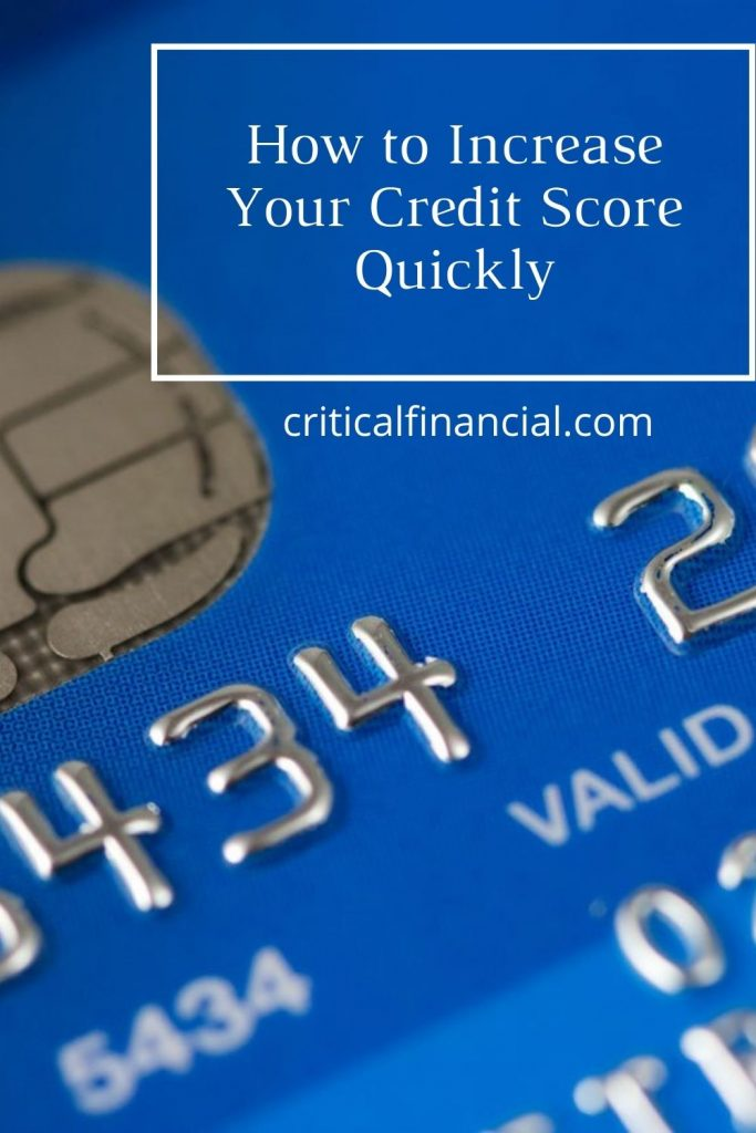 Increase Your Credit Score Quickly