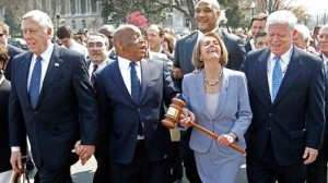 Pelosi with gavel 3-21-10