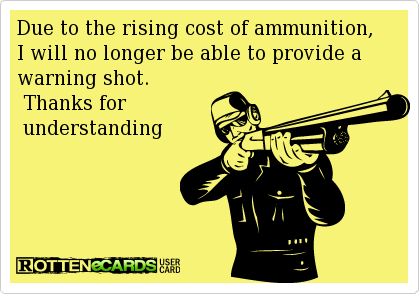 Ammunition as currency